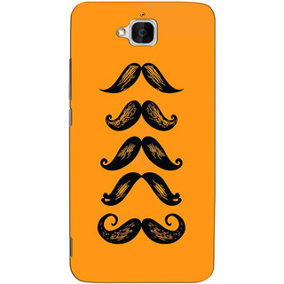 Sketchfab Moustache  Totu TPU Ultra Thin PREMIUM LATEST DESIGNER PRINTED CASE COVER For  Huawei Honor Holly 2 Plus - Clear