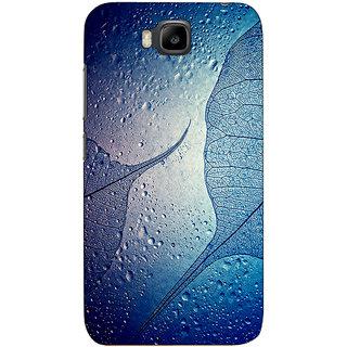 Sketchfab Leaf  Totu TPU Ultra Thin PREMIUM LATEST DESIGNER PRINTED CASE COVER For Huawei Honor Bee - Clear