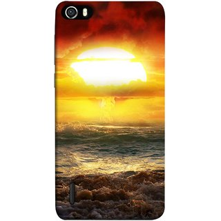 FUSON Designer Back Case Cover For Huawei Honor 6 (Sunshine Bright Day Sunny Clouds Fuzzy Waves Long )