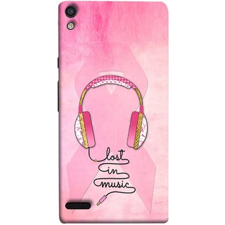 FUSON Designer Back Case Cover For Huawei Ascend P6 (Valentine Pink Metallic Amazing In Concert Events )