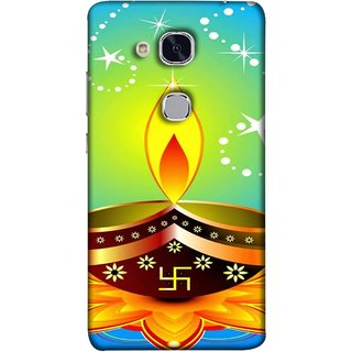 FUSON Designer Back Case Cover For Huawei Honor 5c :: Huawei Honor 7 Lite :: Huawei Honor 5c GT3 (Wallpaper Vector Beautiful Vector Diwali Diya)