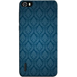 FUSON Designer Back Case Cover For Huawei Honor 6 (Blue Artwork Student Spots Amazing Plywood Table Cloth)