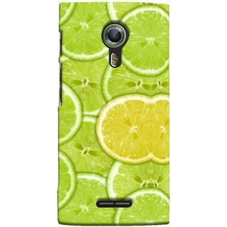 FUSON Designer Back Case Cover For Alcatel Flash 2 :: Alcatel Onetouch Flash 2 (Lemon Lime Sweet Agriculture Farm Fresh Cut Cell)