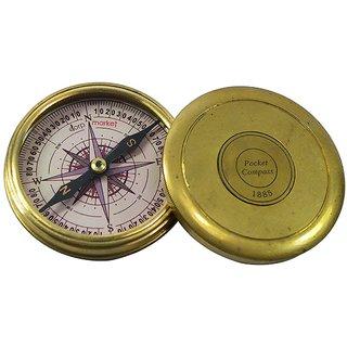 PIRU 3 Inch Poem Pocket Sundial Compass With Robert Frost Poem Inside
