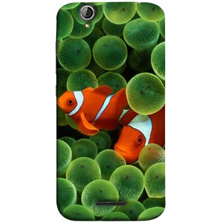FUSON Designer Back Case Cover For Acer Liquid Z630 :: Acer Liquid Zade Z630S (White Orange Two Fish Water Salt Best Wallpapers Sea)