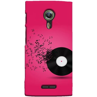 FUSON Designer Back Case Cover For Alcatel Flash 2 :: Alcatel Onetouch Flash 2 (Vinyl Disc With Music Notes Music Lover And Collector )