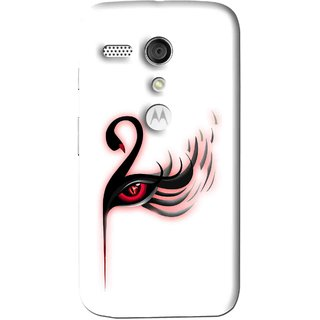 Snooky Printed Eye Art Mobile Back Cover For Moto G - Multi