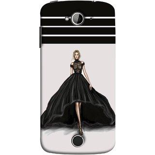 FUSON Designer Back Case Cover For Acer Liquid Z530 :: Acer Liquid Zade Z530S (On Stage High Heel Cat Walk Black Dress )