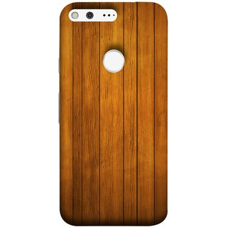 FUSON Designer Back Case Cover For Google Pixel XL (Unique Wooden Pine Background Vintage Table Tiles)