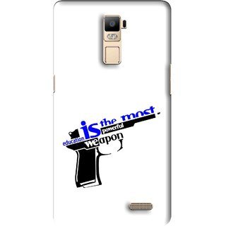 Snooky Printed Be Educated Mobile Back Cover For Oppo R7 Plus - Multi