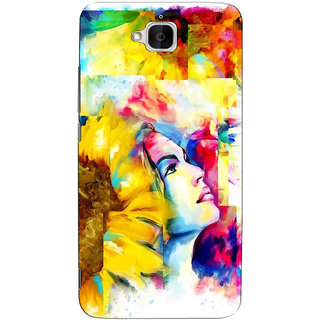 Sketchfab Rangoli Color Girl  Totu TPU Ultra Thin PREMIUM LATEST DESIGNER PRINTED CASE COVER For  Huawei Honor Holly 2 Plus - Clear