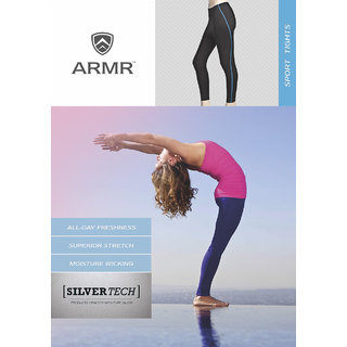 ARMR Women Turq.Blue/ Black SPORT Full-Length Tights