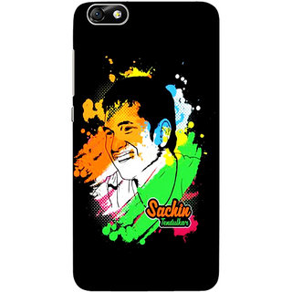 Sketchfab Sachin Tendulkar  Totu TPU Ultra Thin PREMIUM LATEST DESIGNER PRINTED CASE COVER For  Hauwei Honor 4X - Clear