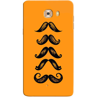 Sketchfab Moustache  Totu TPU Ultra Thin PREMIUM LATEST DESIGNER PRINTED CASE COVER For Samsung Galaxy C9 Pro