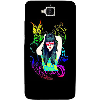 Sketchfab Girl  Totu TPU Ultra Thin PREMIUM LATEST DESIGNER PRINTED CASE COVER For  Huawei Honor Holly 2 Plus - Clear
