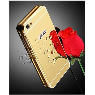 Vivo V5 Mirror Back Covers Micomy - Golden