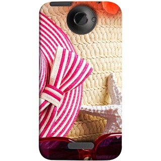 FUSON Designer Back Case Cover For HTC One X :: HTC One X+ :: HTC One X Plus :: HTC One XT (Tropical Beach In Summer Holiday Toy Table )