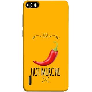 FUSON Designer Back Case Cover For Huawei Honor 6 (Radio Mirchi Show Hot Love Guru Teacher Mantra)