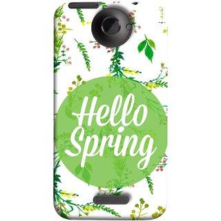 FUSON Designer Back Case Cover For HTC One X :: HTC One X+ :: HTC One X Plus :: HTC One XT (Season Banner With Fresh Green Leaves Showering)