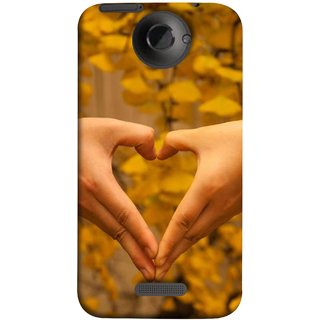 FUSON Designer Back Case Cover For HTC One X :: HTC One X+ :: HTC One X Plus :: HTC One XT (Close Up Male And Female Hands Making Heart Shape)
