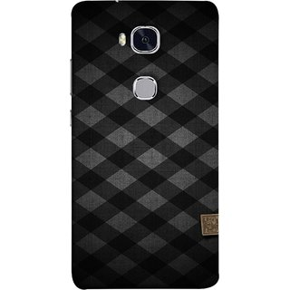 FUSON Designer Back Case Cover For Huawei Honor 5X :: Huawei Honor X5 :: Huawei Honor GR5 (Geometric Wallpaper Art Print Black And White )