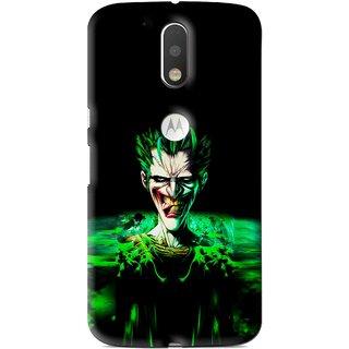Snooky Printed Daring Joker Mobile Back Cover For Moto G4 Plus - Multi
