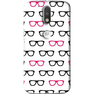 Snooky Printed Spectacles Mobile Back Cover For Moto G4 Plus - Multi