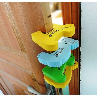 Baby Door Stopper Animal Shape Quality 4 pcs Pinch Safety gaurd