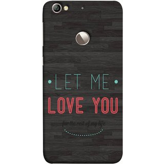 FUSON Designer Back Case Cover For LeEco Le 1s :: LeEco Le 1s Eco :: LeTV 1S (For Rest Of My Life Pink Big Smiling Couples )
