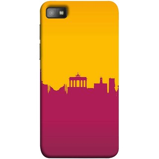 FUSON Designer Back Case Cover For BlackBerry Z10 (Astounding Skyscrapers Of Remarkable Architectural)