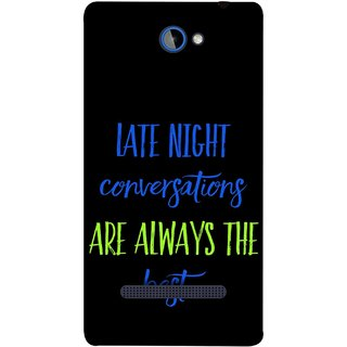 FUSON Designer Back Case Cover For HTC Windows Phone 8S :: HTC 8S (Late Night Talking Is Real And Best True Result Output)