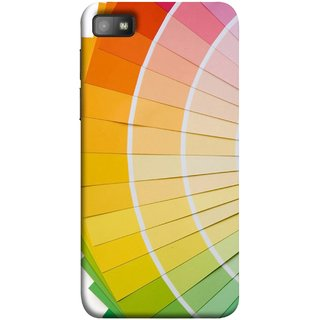 FUSON Designer Back Case Cover For BlackBerry Z10 (Papers Sheets White Circle Round Beautiful Lining )