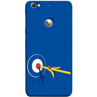 FUSON Designer Back Case Cover For LeEco Le 1s :: LeEco Le 1s Eco :: LeTV 1S (Archery Targets Compound Bow And Arrow)