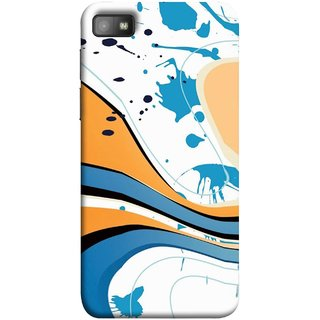 FUSON Designer Back Case Cover For BlackBerry Z10 (Paint And Patches Artist Perfect Waves Black )
