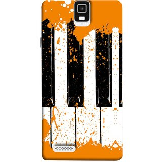 FUSON Designer Back Case Cover For Infocus M330 (Black And White Colour Splash Droplets Music )