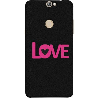 FUSON Designer Back Case Cover For Coolpad Max (Love Life Forever Hearts Real Love True Lovers Valentine)