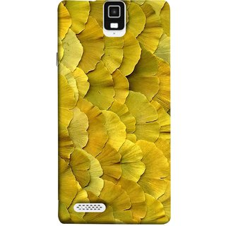 FUSON Designer Back Case Cover For Infocus M330 (Lotus Leaves In Row Heart Shape Old Dried )