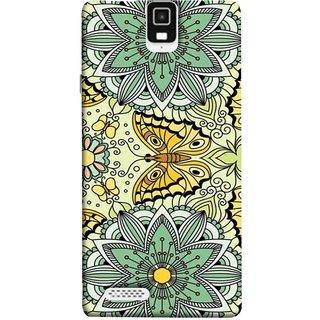 FUSON Designer Back Case Cover For Infocus M330 (Vintage Floral Seamless Pattern With Roses Leaves )