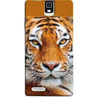 FUSON Designer Back Case Cover For Infocus M330 (Wild Jungle Tigers Whisker Roaring Sitting Safari India)