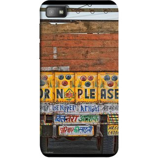 FUSON Designer Back Case Cover For BlackBerry Z10 (Decorated Goods Carrier On Indian Road Stop Dil Tera)