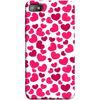 FUSON Designer Back Case Cover For BlackBerry Z10 (Abstract Love Heart Background Lovers Valentine)
