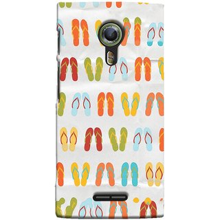 FUSON Designer Back Case Cover For Alcatel Flash 2 :: Alcatel Onetouch Flash 2 (Chappals Juta Shoes Summer Seasons Pink Red Green)