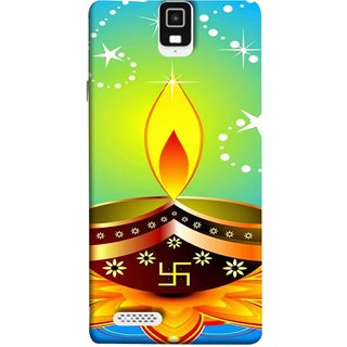 FUSON Designer Back Case Cover For Infocus M330 (Wallpaper Vector Beautiful Vector Diwali Diya)
