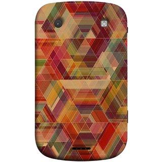 FUSON Designer Back Case Cover For BlackBerry Bold Touch 9900 :: BlackBerry Dakota :: BlackBerry Magnum (Geometric Watercolour Art Print Pink Bright)