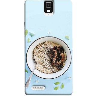 FUSON Designer Back Case Cover For Infocus M330 (Bowl Of Breakfast Cereal With Milk And Spoon)