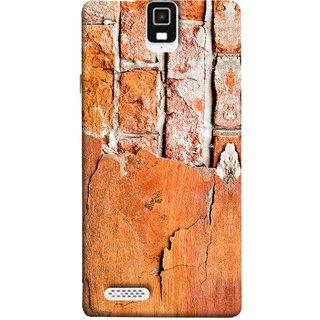 FUSON Designer Back Case Cover For Infocus M330 (Peeling Plaster Bricks White Cement Broken Small Big)