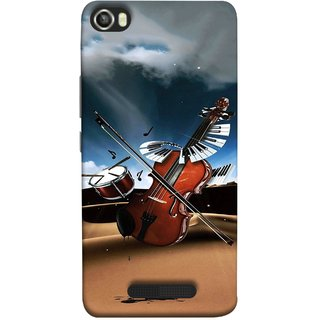 FUSON Designer Back Case Cover For Lava Iris X8 (Musical Instrument Vintage Bass Music Lovers Play)