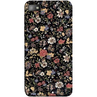 FUSON Designer Back Case Cover For BlackBerry Z10 (Cotton Quilt Fabric Susie Butterfly Floral )