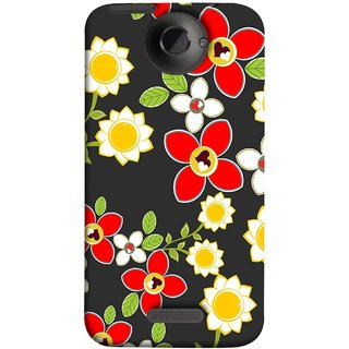 FUSON Designer Back Case Cover For HTC One X :: HTC One X+ :: HTC One X Plus :: HTC One XT (Floral Patterns Digital Textiles Florals Design Patterns)