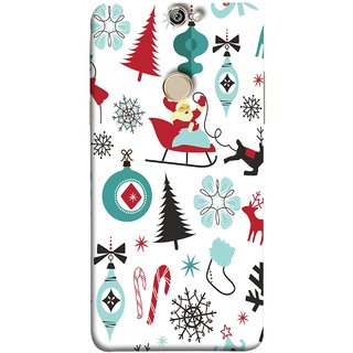 FUSON Designer Back Case Cover For Coolpad Max (Santaclaus New Year Igloo Snowflakes Candy Cane )